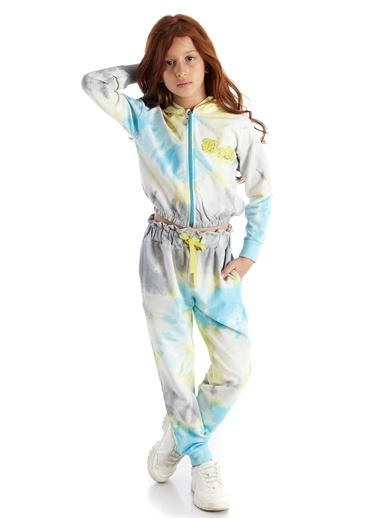 Colorinas Colorinas Batik Desen   Kız Çocuk Eşofman Altı Renkli